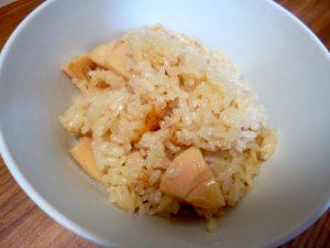 バター焼きたけのこご飯、完成!
