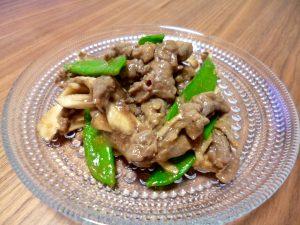 牛肉と舞茸の黒こしょう炒め、完成!