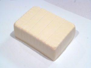 豆腐を5等分に切る