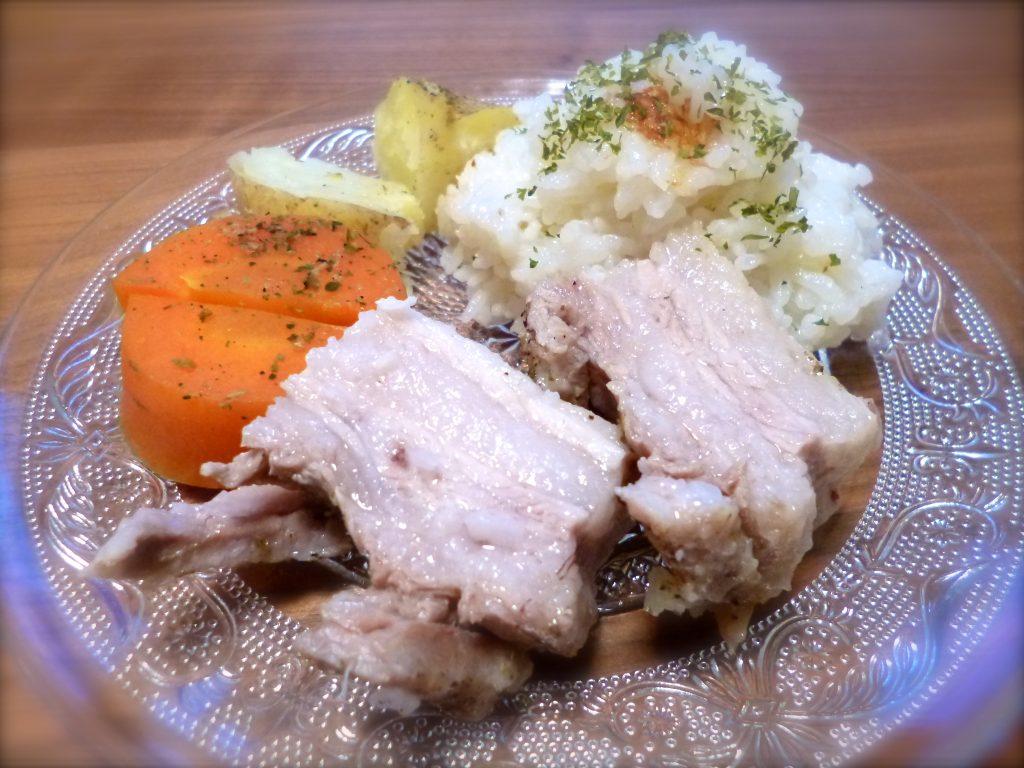 ゴロゴロ野菜と豚肉のワンプレートご飯