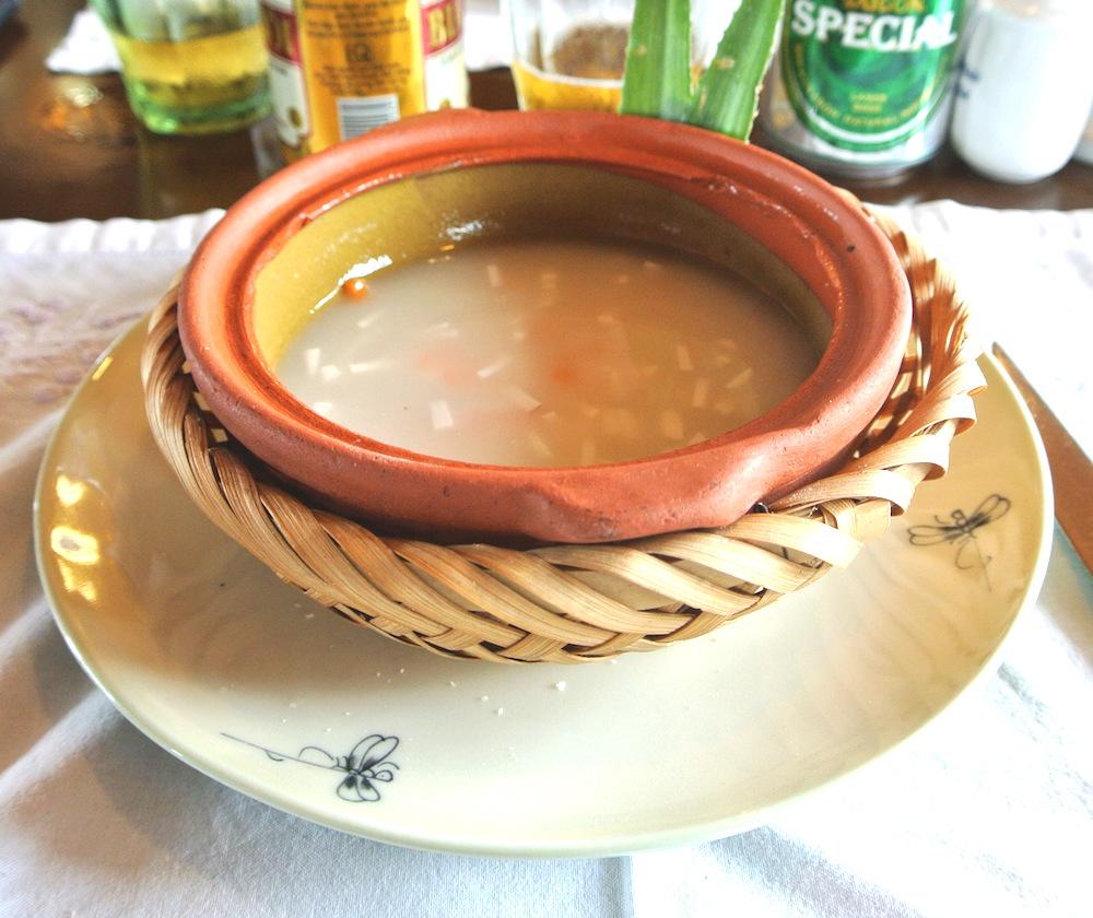 蓮の実入りスープ