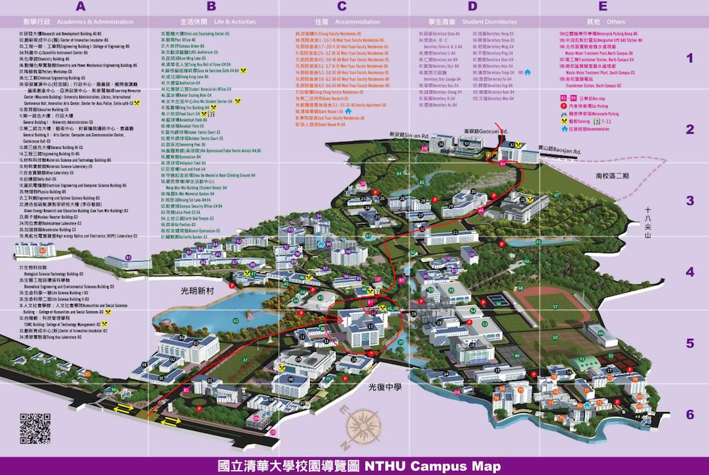 清華大学の地図