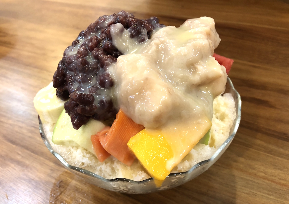 タロイモかき氷